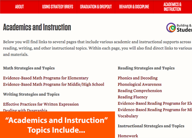 Academic and Instruction Topics