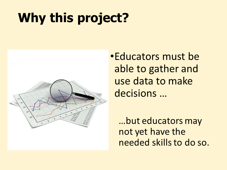 Why this project Slide 5