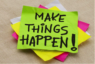 motivation makes things happen post-it notes